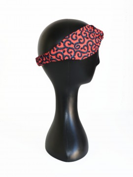 Bandeau africain / Wax conseillé rose / Turban wax / Tissu africain