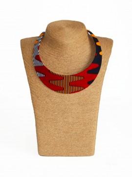Collier Bantu / Wax batik multicolore / Collier africain / Tissu africain