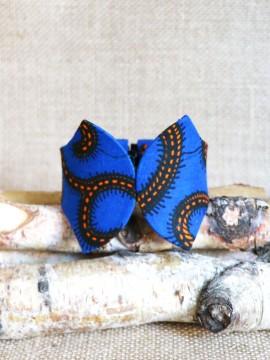 Manchette Papillon / Wax conseillé bleu / Bracelet bleu / Tissu africain