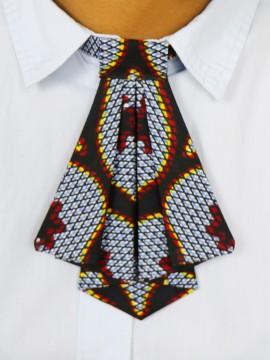 Crawax / Wax Congrès gris / Cravate pour femme / Tissu africain