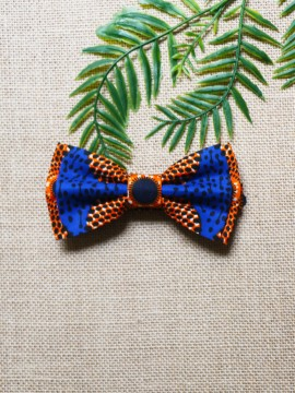 Noeud papillon wax / Chacha gris / Tissu africain / Imprimé wax