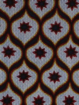 Tissu Africain / Wax batik rouge / Imprimé wax / Coupon 45cm