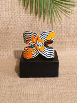Manchette Akan / Wax Chacha orange / Bracelet africain / Tissu africain