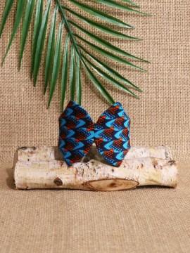 Manchette Papillon / Wax écailles bleu / Bracelet bleu / Tissu africain