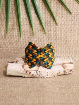 Manchette Papillon / Wax écailles vert / Bracelet vert / Tissu africain