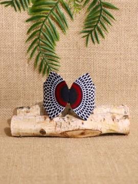 Manchette Papillon / Wax disques bordeaux / Bracelet bordeaux / Tissu wax