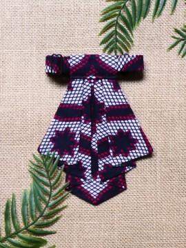 Crawax / Wax Congrès blanc / Cravate pour femme / Tissu africain