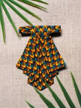 Crawax / Wax écailles vert / Cravate pour femme / Tissu africain