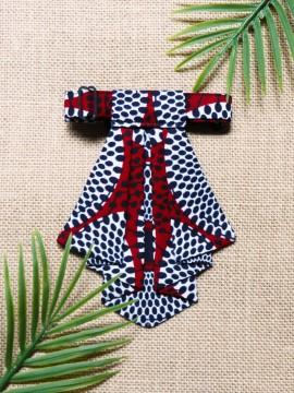 Crawax / Wax Disques bordeaux / Cravate pour femme / Tissu africain