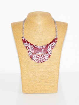 COLLIER PLASTRON ROND WAX