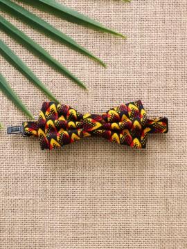 Noeud papillon Junior / Wax conseillé rose / Tissu africain / Imprimé wax