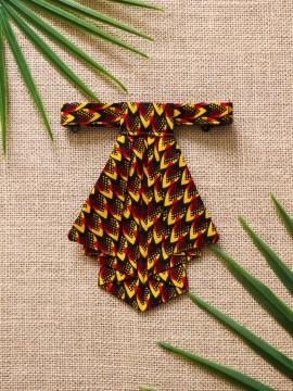 Crawax / Wax Conseillé rouge / Cravate pour femme / Tissu africain