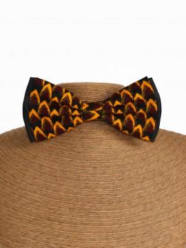 Noeud papillon classic / Wax tribal jaune / Tissu africain / Imprimé jaune