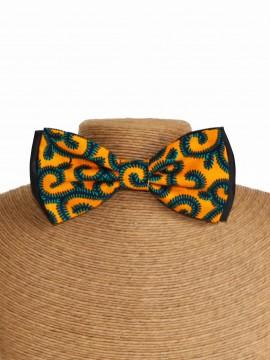 Noeud papillon classic / Wax conseillé jaune / Tissu africain / Imprimé jaune